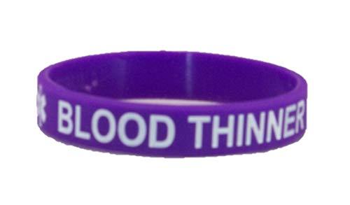 Blood Thinner Dark Purple Silicone Bracelet