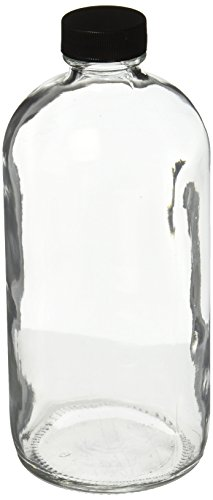 qorpak-glc-01178-boston-round-bottle-with-28-400-polypropylene-cap-and-ptfe-disc-16-oz-clear-pack-of