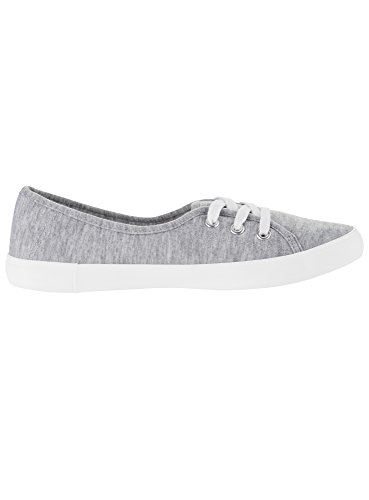 Ultra Basic Cotone Sneakers Donna Grigio in oodji 2000m PagqSxpaw