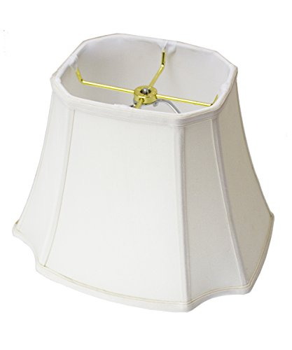 9x16x12 Square Cut Corner Lamp Shade Eggshell with Brass Spider fitter by (Beige Square Floor Lamp)