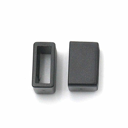 50 Pcs Keepers Clips For Straps Webbing Belt Ribbon Buckle Rectangle Plastic 3/8 10mm Black