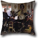 (The Oil Painting Anton Von Werner - Im Etappenquartier Vor Paris Pillowcase Of ,20 X 20 Inches / 50 By 50 Cm Decoration,gift For Dinning Room,bedding,wedding,him,office,couch (double Sides))