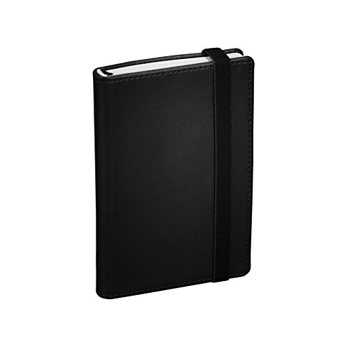 Samsill Pocket Size Mini Writing Notebook Journal, Hardbound Cover, 3.5 Inch x 5.5 Inch, 120 Ruled Sheets (240 Pages), Black