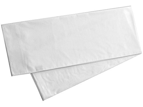 Body Pillowcase Pillow Cover 20 x 54, 100% Cotton, 300 Thread Count, Body Pillow Cover, (21 x 60, White)