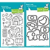 Lawn Fawn Critters On The Farm Clear Stamp and Die Set - Includes One Each of LF355 (Stamp) & LF686 (Die) - Custom Set
