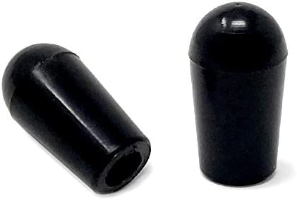 2-Pack Vintage Forge Black Toggle Switch Tip Caps for Gibson USA Les Paul Electric Guitar LPST10-BLK