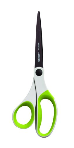 Scotch Precision Ultra Edge Scissor, 8 Inch, White / Green (1458TG)