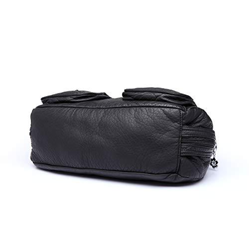para bolsas 2 de y bolsos para Kiss y hombro mujeres 1593 Negro mujeres Ángel bolsos wXOvqH