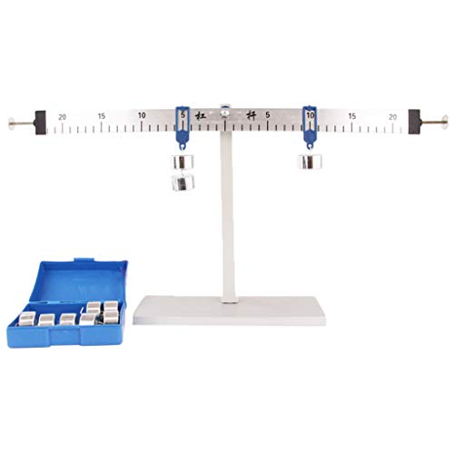 Stand Fulcrum Kit - B Blesiya Simple Machine Fulcrum Balance Lever Unit Kit, Includes Metal Slotted Weights and Balance Principle Lever Ruler