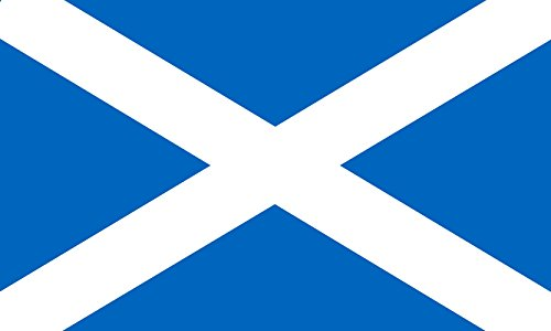magFlags Large Flag Scotland as a path | landscape flag | 1.35m² | 14.5sqft | 90x150cm | 3x5ft - 100% Made in Germany - long lasting outdoor flag