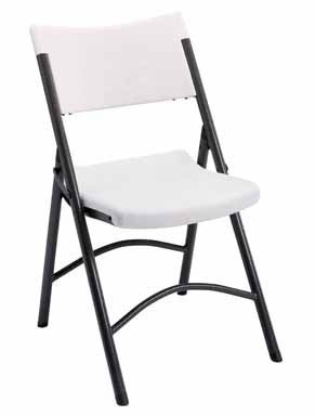 (Living Accents Sc2001 Plastic Folding Chair, White)