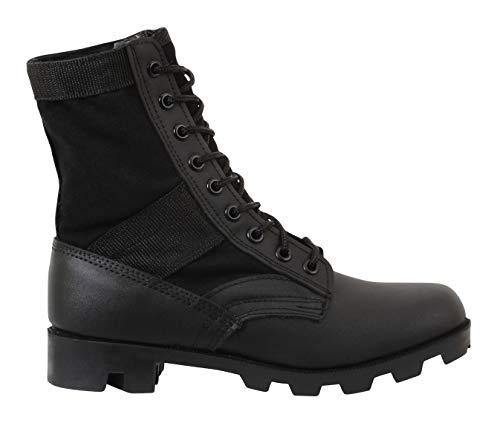 (Rothco 8'' GI Type Jungle Boot, Black,)