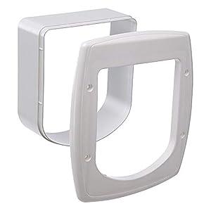 Ferplast Extensión para Puerta para Gatos, Gatera con Microchip, Puerta basculante Swing Microchip Extension, 22,5 x 16,2 x h 25,2 cm – Profundidad 5 cm, Blanco