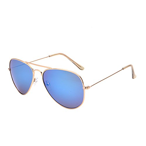 Classic Mirrored Aviator Sunglasses Double Bridge Men Women UV400 - Aviators Small