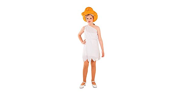 DISBACANAL Disfraz de troglodita Wilma Infantil - -, 10 años ...