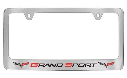 Chevrolet Corvette C6 Grand Sport Metal License Plate Frame Holder (Chrome & Wide)