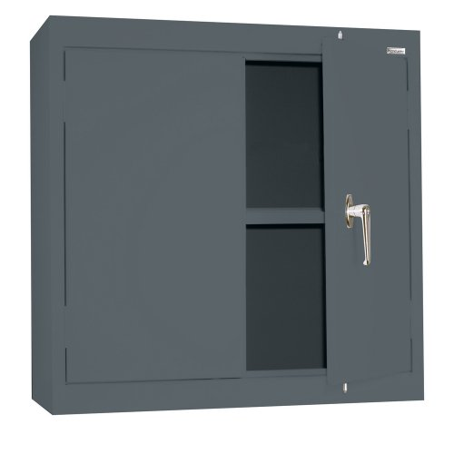 Sandusky Lee WA11301230-02 Charcoal Steel Wall Cabinet, Double Door, 1 Adjustable Shelf, 30