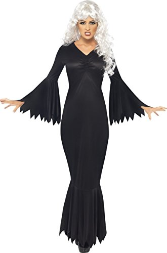 Ladies Raven Vampire Halloween Witch Fancy Dress Costume Outfit 8-22 Plus Size (UK 20-22)