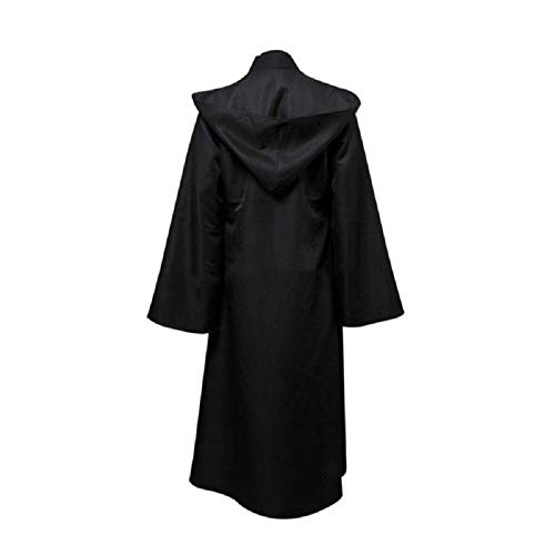 ALF_LBY 1 Pcs Women Men Party Hooded Robe Cloak Cape Halloween Vampire Cosplay (Black) (M) ()