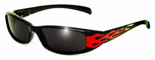 Global Vision Eyewear New Attitude Flames Sunglasses, Super Dark - Flame Sunglasses
