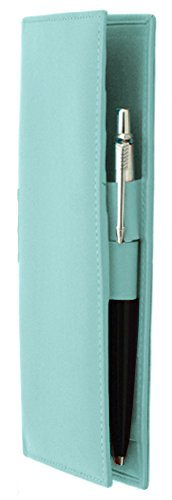 ili New York 7406 Leather Checkbook Cover (Turquoise)