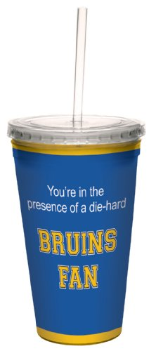 Tree-Free Greetings cc34927 Bruins College Basketball Artful Traveler Double-Walled Cool Cup with Reusable Straw, 16-Ounce