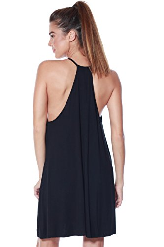 Alexander Black Womens Shift Dress Halter Casual Tank Jersey Swing Tunic David Knit HxBaOH