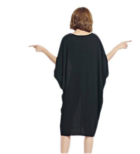 Vestido De La Manera De Gran Tamaño Sueltos HGDRSpring Y Verano De Las Mujeres White