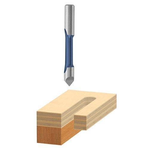 Bosch 85146 1/4-Inch High Speed Steel Pilot Panel Bit with Drill-through Point-Single Flute