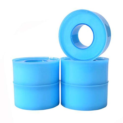 Gaoxingbianlidian001 Threaded Interface Leakproof Tape, Widened and Extended Waterproof Tape Angle Valve Faucet Sealing Tape 5 Rolls,Not Easy to Break (Color : Blue, Size : 19mm18m)