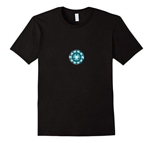 Mens Arc Reactor T-Shirt Large Black