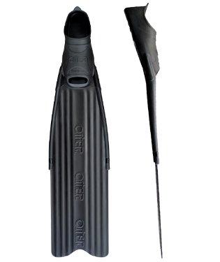 OMER Stingray Freediving, Spearfishing Full Foot Pocket Long Blade Fins (47/48 (US Mens Size - Pocket Full Foot