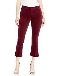 AG Adriano Goldschmied Womens High-Rise Slim Flare Crop, Velvet Jodi Crop, Gooseberry Pants