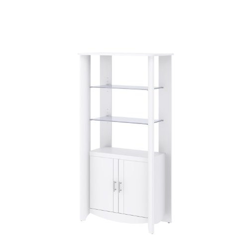 Library Storage Cabinet Doors White