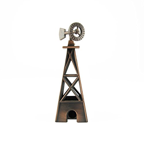 1:87 Scale HO Gauge Metal Windmill Model Train Accessory Desk Pencil Sharpener supplier