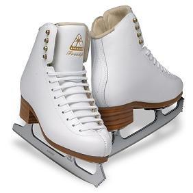 Jackson DJ2191 Freestyle Misses Ice Skates White Single Jump Level Figure Skating (B, 11) by Jackson