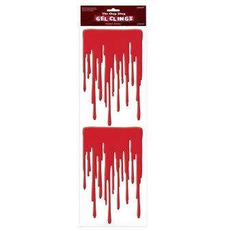 1 X HALLOWEEN The Chop Shop Reusable Blood Gel Clings -