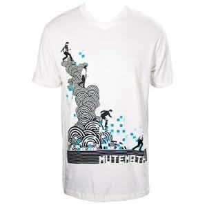 MUTEMATH Digital Steps V Neck Fitted T-Shirt, XL