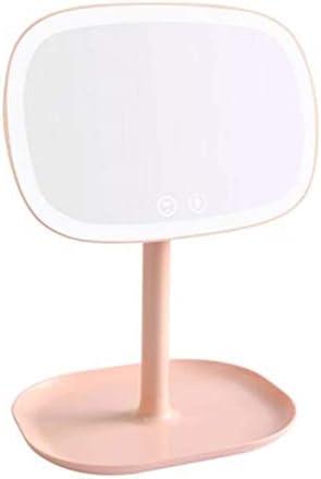 360度回転化粧鏡LED化粧鏡デスクトップ10倍の虫眼鏡付きLED化粧鏡37 LEDライトフィルライトタッチスイッチ