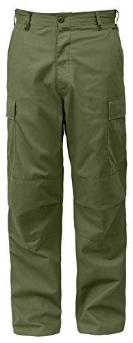 Rothco Relaxed Fit Zipper Fly BDU Pants, Olive Drab, L