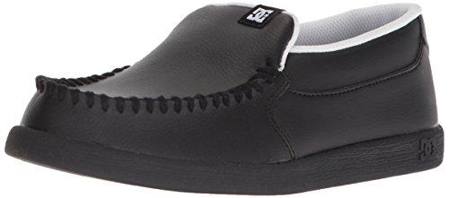 DC Boys' Villain Skate Shoe Black/White 3 M US Little Kid (Dc Kids Shoes)
