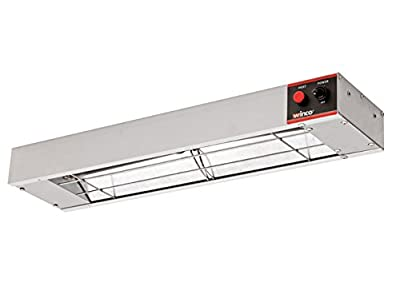 Winco ESH-24, 24? Electric Strip Heater, 500W, 4.2A, Commercial Grade Infrared Food Warmer, Pass-Through Stations Heating