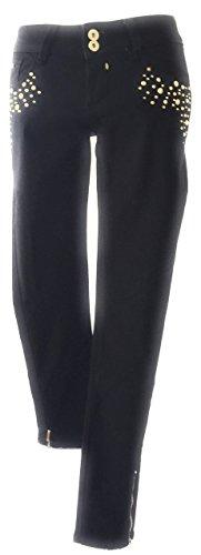 Borchie Con Eur Donna Dorate Cache Marca 34 38 Jeans It Nero Taglia HEw5qx5Ua