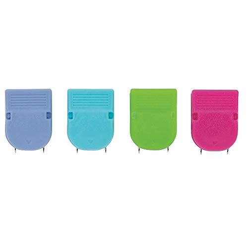 OfficeMax Brand Fabric Panel Wall Clips, Assorted Solid Colors, Pack of 20 from OfficeMax