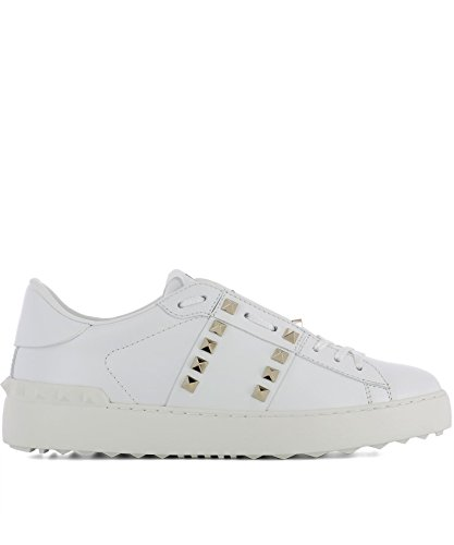 Valentino Women's Pw2s0a01bhs0b0 White Leather Sneakers