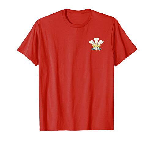 (Vintage Style Wales Rugby T shirt- Classic crest rugby shirt )