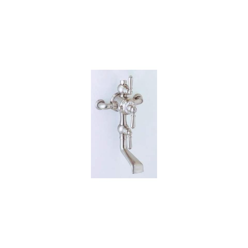 Wall Mounted Thermostatic Tub/Shower Mixer withLever Handles English