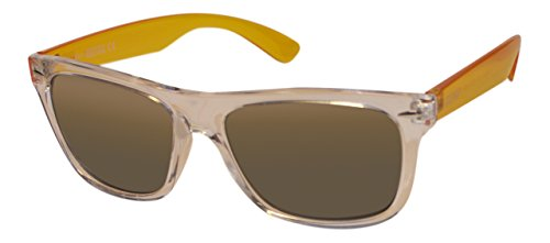 Men's Wayfarer Transparent Sunglasses