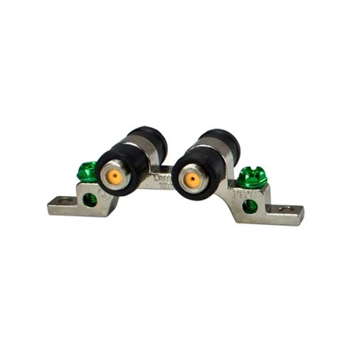 AG Cables - 3 GHz Dual/Twin/Two Port Ground Block - High Frequency with Weather Seal Boots for Coax (Coaxial / RG6) Cable, F Type Approved for Antenna, Dish Network, DIRECTV, ()