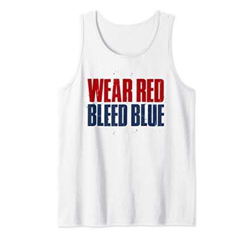 Wear Red Bleed Blue White Sports St. Louis STL Gift Hockey Tank Top (Best Gooey Butter Cake St Louis)